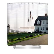 Marshall Point As Sunset Begins Shower Curtain