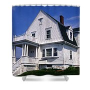 Marshall Point Keepers House Shower Curtain