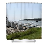 Marshall Point Light Station Shower Curtain