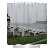 Marshall Point Light Station - Maine Shower Curtain