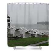 Marshall Point Light Station - Maine Shower Curtain