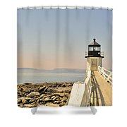 Marshall Point Lighthouse Maine Shower Curtain