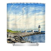 Marshall Point Shower Curtain