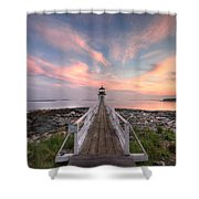 Marshall Point Sunset Shower Curtain