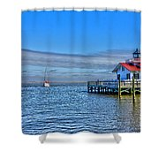 Marshes Lighthouse Shower Curtain
