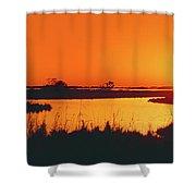 Marshland At Dusk, Bayou Country, Route Shower Curtain