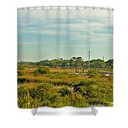 View Of St. Augustine's Cross Shower Curtain
