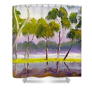 Marshlands Murray River Red River Gums Shower Curtain