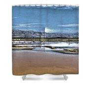 Marshlands Shower Curtain
