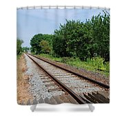 Marshlink Line Rye Shower Curtain