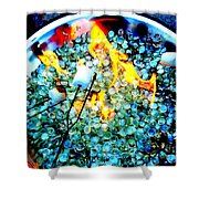 Marshmallow Fire Abstract Shower Curtain