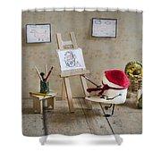 Marshmallow Masterpiece Shower Curtain