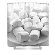 Marshmallows On Plate Shower Curtain
