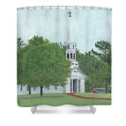 Martha Mary Chapel Shower Curtain by Cliff Wilson