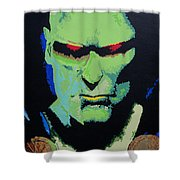 Martian Manhunter - A Close Encounter Shower Curtain