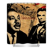 Martin Luther King Jr 2 Shower Curtain