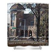 Martin Luther King Jr. And Sixteenth Street Baptist Church Shower Curtain
