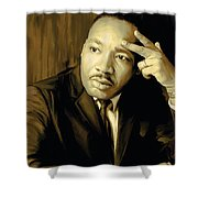 Martin Luther King Jr Artwork Shower Curtain by Sheraz A