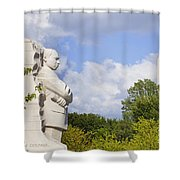 Martin Luther King Jr Memorial And The Washington Monument Shower Curtain