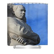 Martin Luther King Jr Monument Detail Shower Curtain