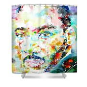 Martin Luther King Jr. - Watercolor Portrait Shower Curtain