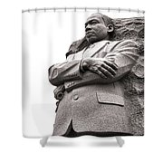 Martin Luther King Memorial Statue Shower Curtain