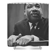 Martin Luther King Press Conference 1964 Shower Curtain by Anonymous
