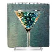 Martini Glass Shower Curtain