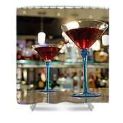 Martini Glasses In Bar Shower Curtain
