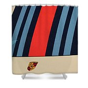 Martini Porsche Shower Curtain