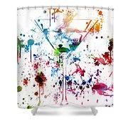 Martini Watercolor  Shower Curtain