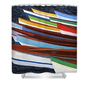 Martinique Boats Shower Curtain