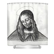 Mary After Davinci Shower Curtain