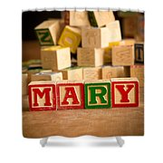 Mary - Alphabet Blocks Shower Curtain