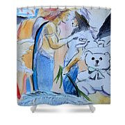 Mary And Gabriel Shower Curtain