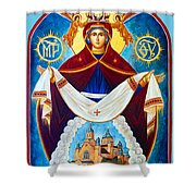 Mary And The Holy Church Shower Curtain