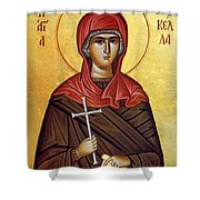 Mary In Brown  Shower Curtain