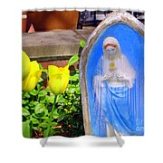 Mary In Springtime Shower Curtain