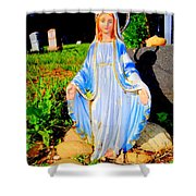 Mary In Sunlight Shower Curtain