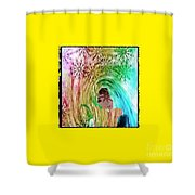 Mary In The Field Shower Curtain