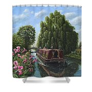 Mary Jane Chesterfield Canal Nottinghamshire Shower Curtain