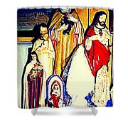 Mary Joseph And Jesus Vintage Religious Catholic Statues Patron Saints And Angels Cb Spandau Quebec Shower Curtain