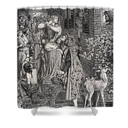 Mary Magdalene At The Door Of Simon Shower Curtain