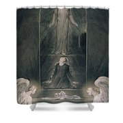 Mary Magdalene At The Sepulchre Shower Curtain by William Blake