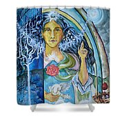 Mary Magdalene Watercolor Shower Curtain