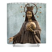 Mary Mother Of Jesus Shower Curtain