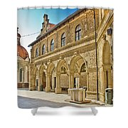Mary Of Bistrica Shrine Architecture  Shower Curtain