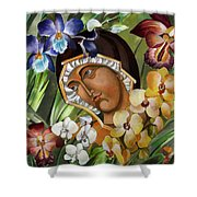 Mary Of The Orchids  Shower Curtain