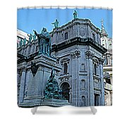 Mary Queen Of The World Cathedral - Side View In Hdr Shower Curtain