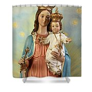 Mary Statue At Taybeh Village Shower Curtain